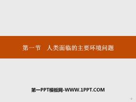 《人�面�R的主要�h境���}》人地�P系�c可持�m�l展PPT�n件