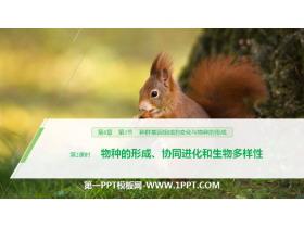 《种群基因组成的变化与物种的形成》生物的进化PPT(第2课时物种的形成、协同进化和生物多样性)