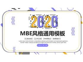 �S紫MBE�L格通用商��PPT模板