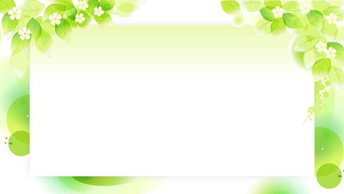 三张清新植物绿叶ppt背景图片