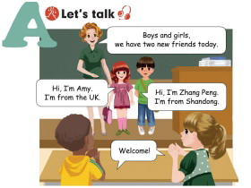 《Welcome back to school!》Lets talk Flash动画课件