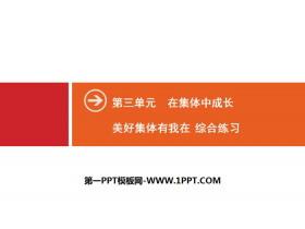 《美好集�w有我在》在集�w中成�LPPT(�C合��)