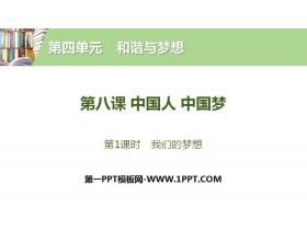 《中国人 中国梦》和谐与梦想PPT(第1课时我们的梦想)