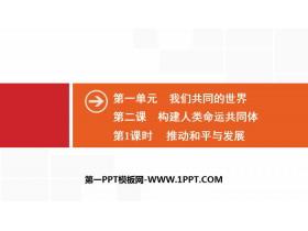 《构建人类命运共同体》我们共同的世界PPT(第1课时推动和平与发展)