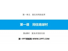 《同住地球村》我们共同的世界PPT课件(第2课时复杂多变的关系)