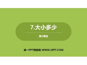 《大小多少》PPT课件下载(第2课时)