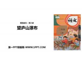 《望庐山瀑布》PPT下载