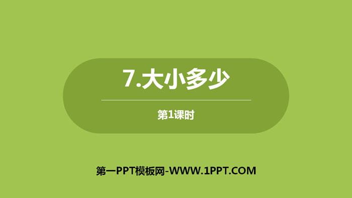 《大小多少》PPT�n件下�d(第1�n�r)
