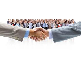 6张握手PPT背景图片