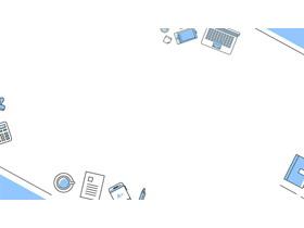 两张蓝色商务办公桌面PPT背景图片