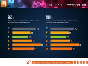 8张精致实用的PPT条形图