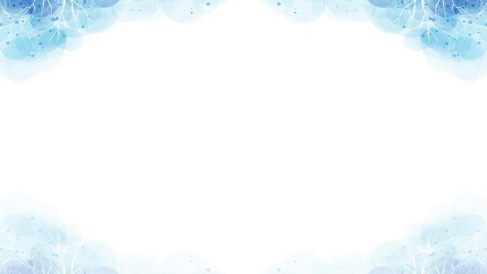 蓝色唯美水彩PPT背景图片