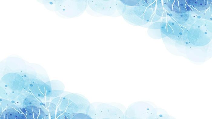 蓝色唯美水彩ppt背景图片图片