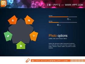 两张聚合关系PPT图表