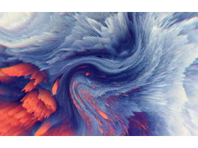 6��抽象炫彩��g渲染PPT背景�D片