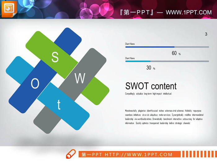 三张企业SWOT分析PPT图表