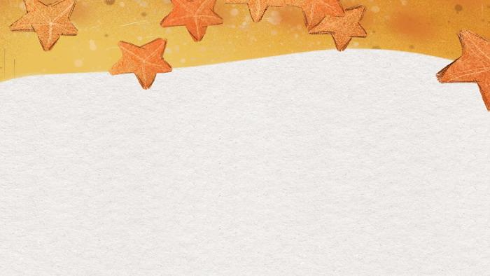 卡通手绘五角星PPT背景图片