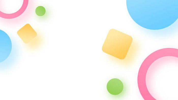 一组马卡龙配色的多边形PPT背景图片