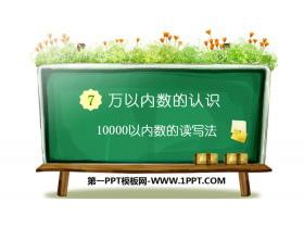 《10000以内数的读写法》万以内数的认识PPT