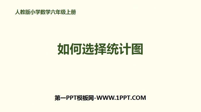 《如何选择统计图》扇形统计图PPT