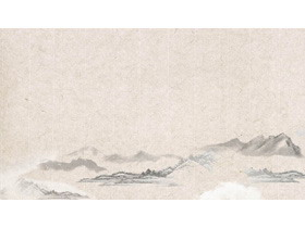 古典雅致水墨中���LPPT背景�D片
