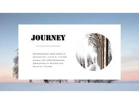 唯美冬季雪景背景的旅行相册必发88模板