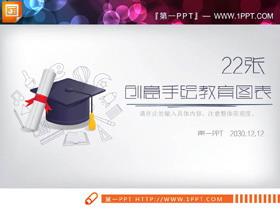 22张手绘教育培训PPT图表