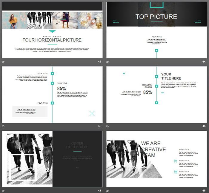简洁街头风格欧美旅行PPT模板-三网云-小程序源码|商业源码|专注精品源码|免费下载网站|分享不一样的源码资源平台