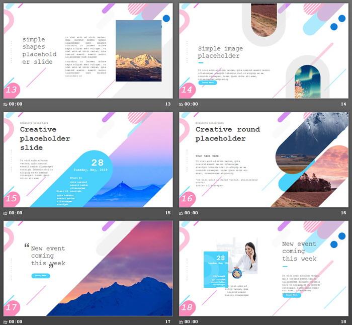 创意多边形彩色渐变时尚PPT模板-三网云-小程序源码|商业源码|专注精品源码|免费下载网站|分享不一样的源码资源平台