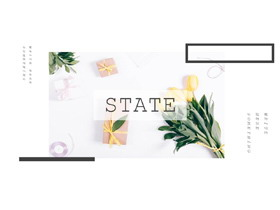 小清新鲜花植物画册欧美风PPT模板