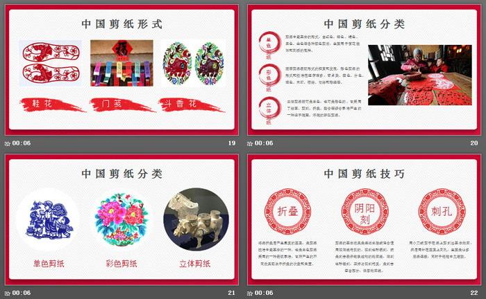 中国传统文化剪纸PPT模板