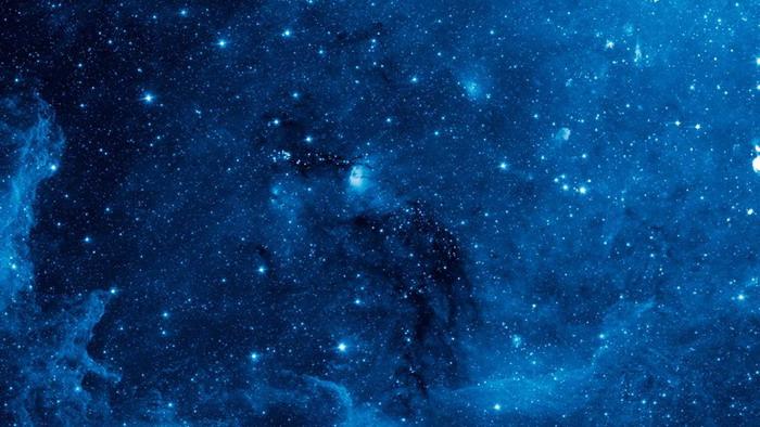 两张精致蓝色星空PPT背景图片