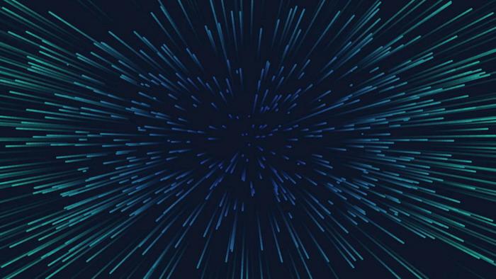 蓝色带有空间感的散射线条PPT背景图片