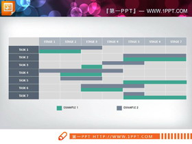 三��7X7甘特�DPPT�D表
