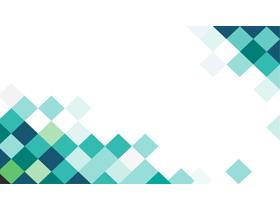 绿色方格PPT背景图片
