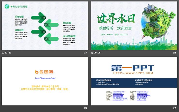 世界水日PPT主题模板