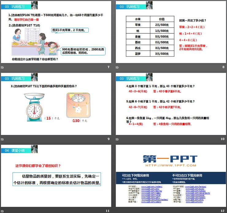 《克、千克的问题》PPT课件下载