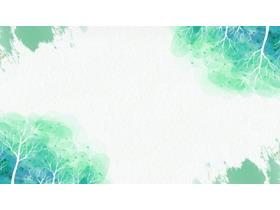 �G色水彩�淠�PPT背景�D片