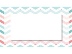 红绿折线PPT边框背景图片