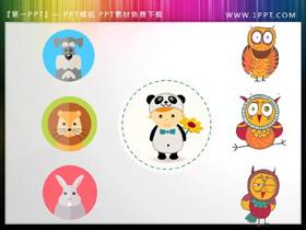 7张可爱小动物PPT插图素材