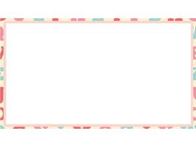 粉色字母PPT边框背景图片