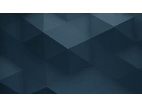 两张带有凹凸立体感的蓝色多边形PPT背景图片