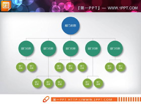 18张常用PPT组织结构图