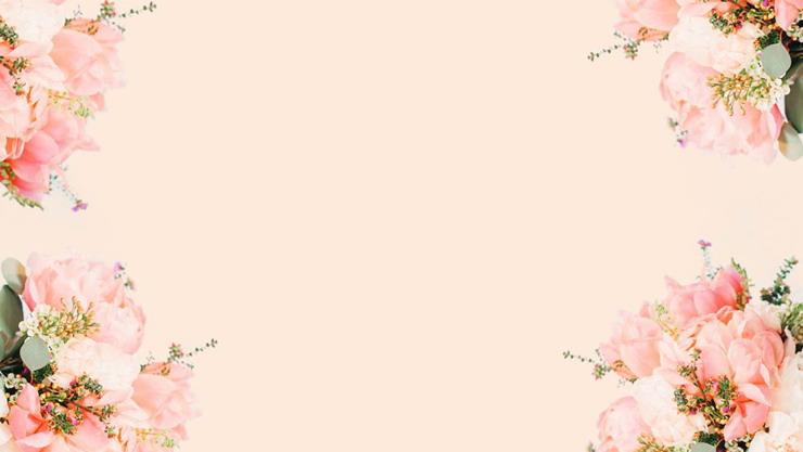 粉色鲜花植物PPT背景图片