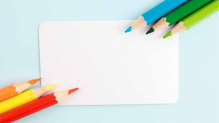 五张彩色铅笔PPT背景图片