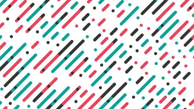 三张彩色斜线PPT边框背景图片