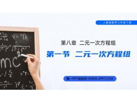 《二元一次方程组》PPT课件免费下载