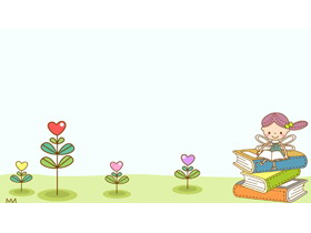 一组可爱卡通儿童PPT背景图片