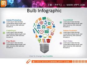 彩色扁平化商务PPT信息图表合集
