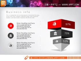 40页红黑扁平化商务PPT图表大全
